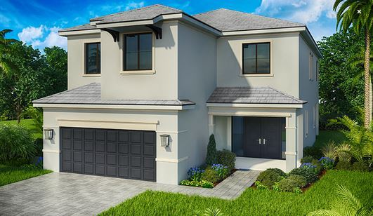 Exterior featured in the Model E By Home Dynamics - Silverleaf in Palm Beach County, FL