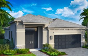Exterior featured in the Model A1 By Home Dynamics - Silverleaf in Palm Beach County, FL