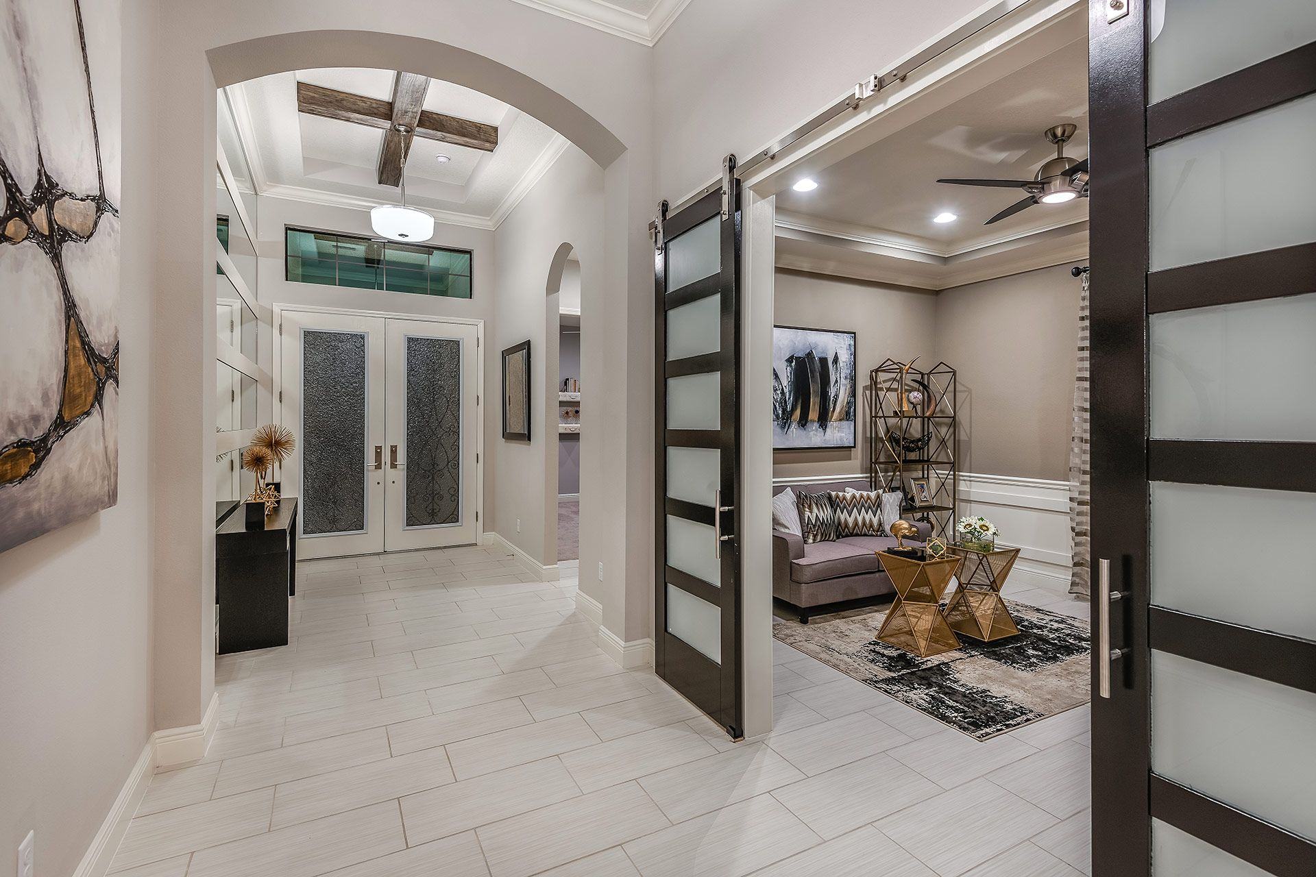 Living Area featured in the Biscayne II By Homes by WestBay in Tampa-St. Petersburg, FL