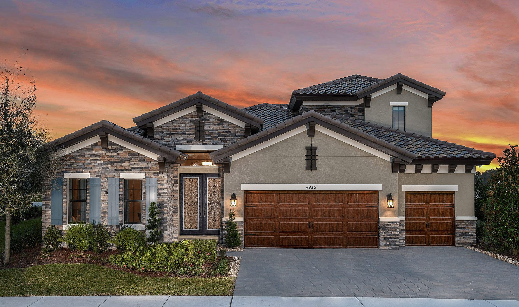 Exterior featured in the Biscayne II By Homes by WestBay in Tampa-St. Petersburg, FL