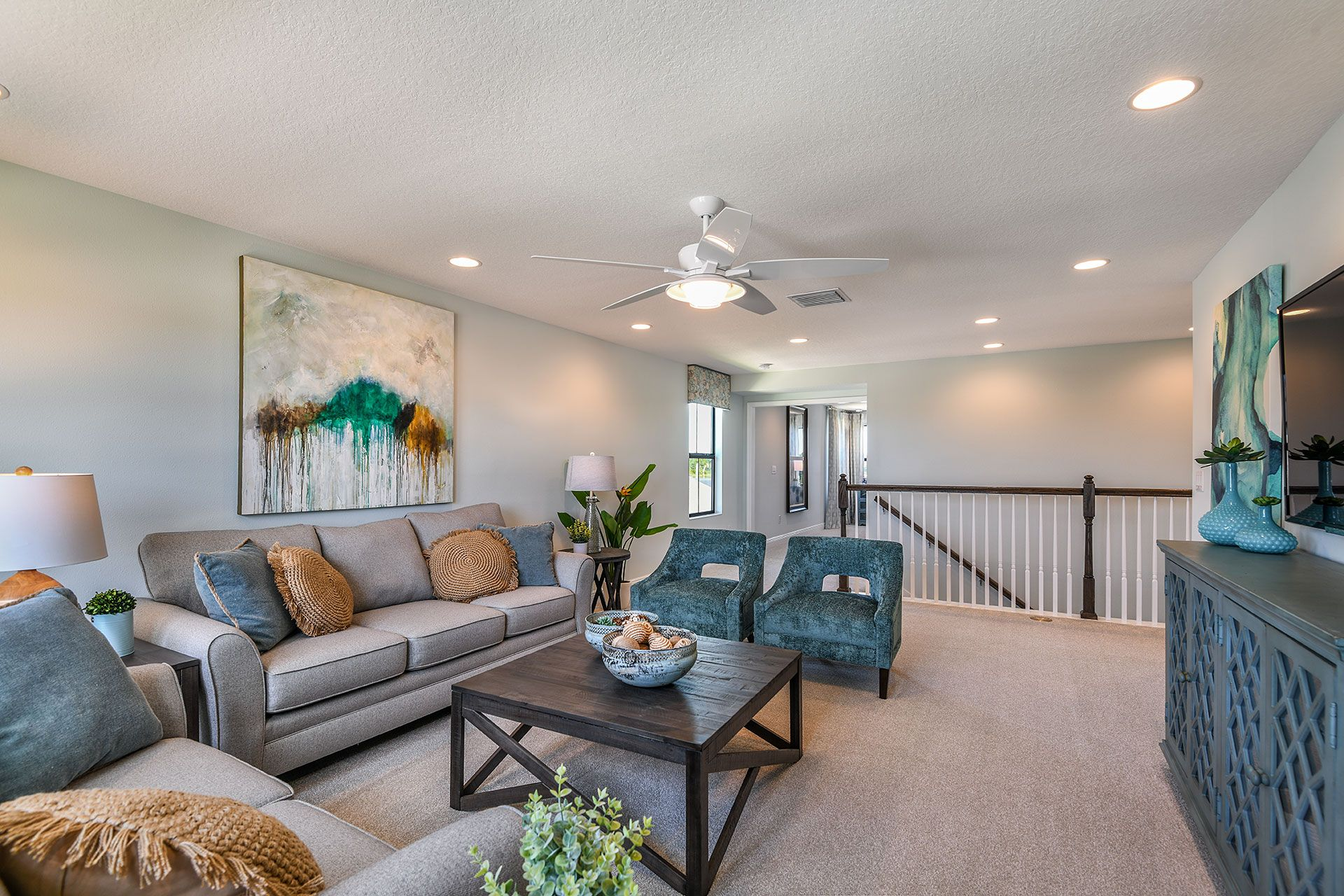 Living Area featured in the Pelican By Homes by WestBay in Tampa-St. Petersburg, FL