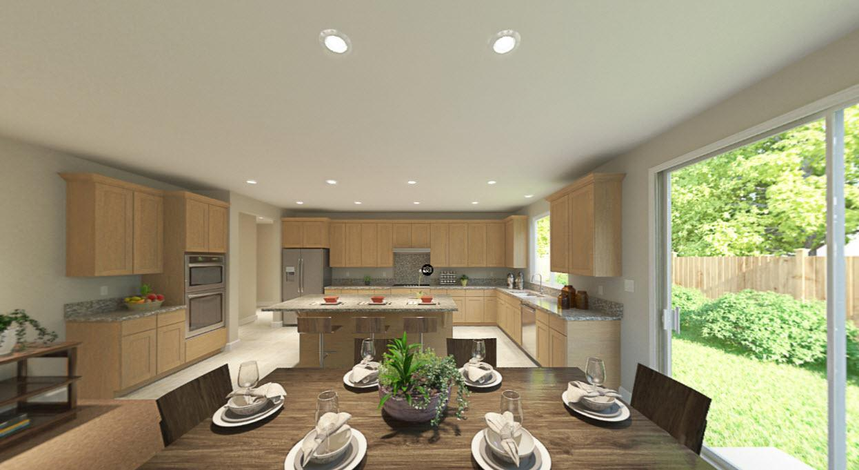 Kitchen featured in the Plan Nine By Homes By Towne in Sacramento, CA