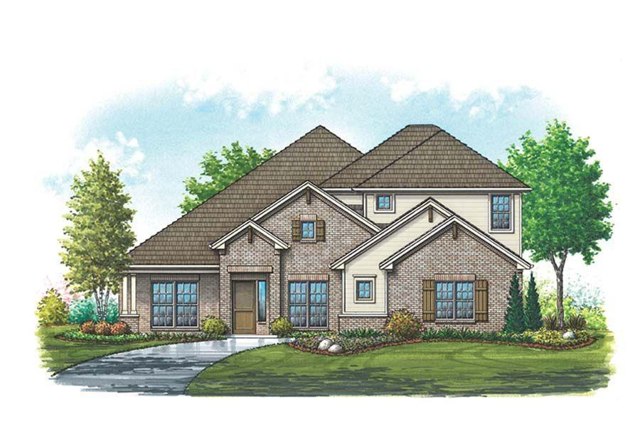 Exterior featured in the Bristol III By Homes By Towne - TX in Fort Worth, TX