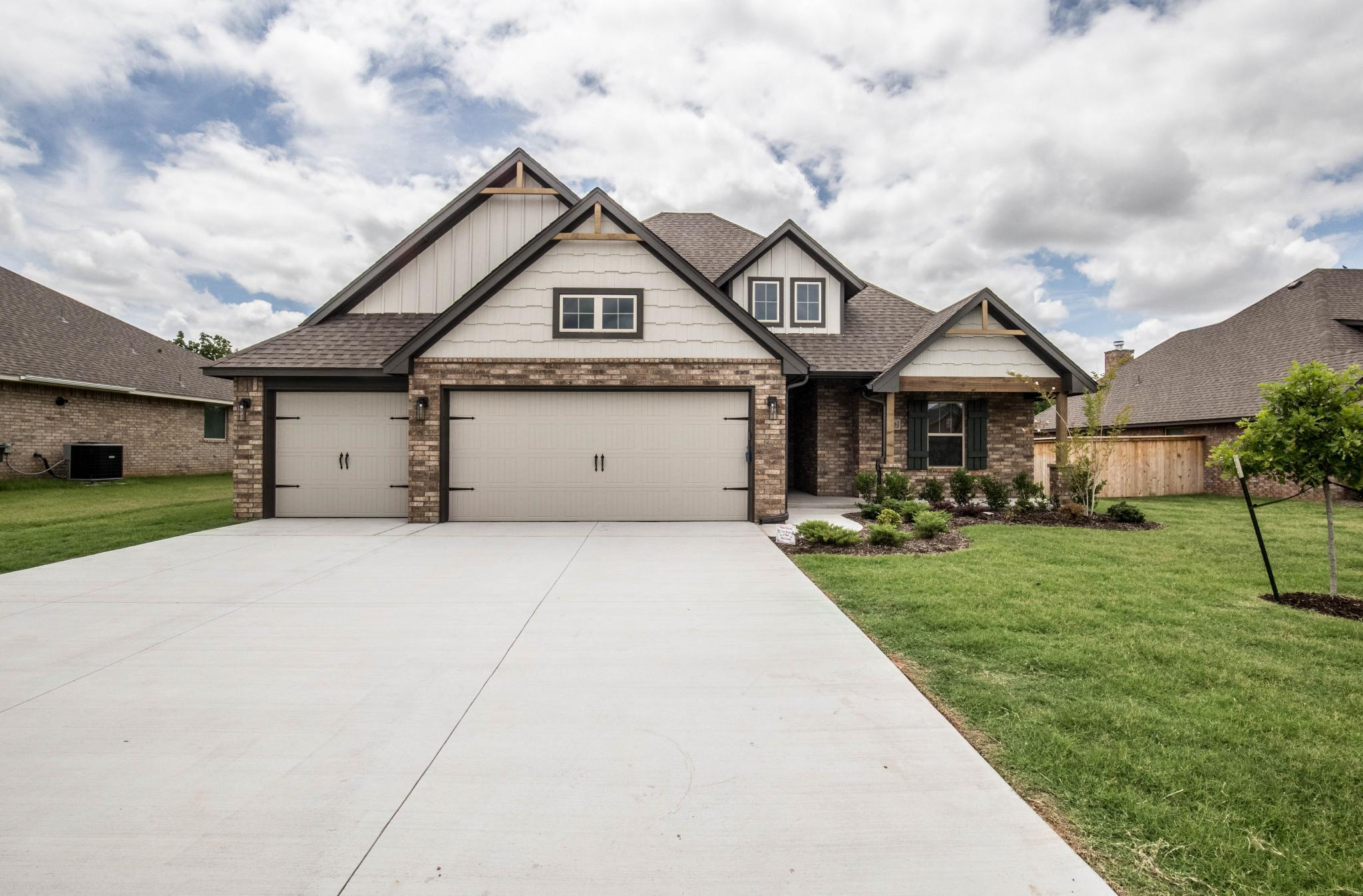 Exterior featured in the Blue Spruce Bonus Room 2 By Homes By Taber in Oklahoma City, OK