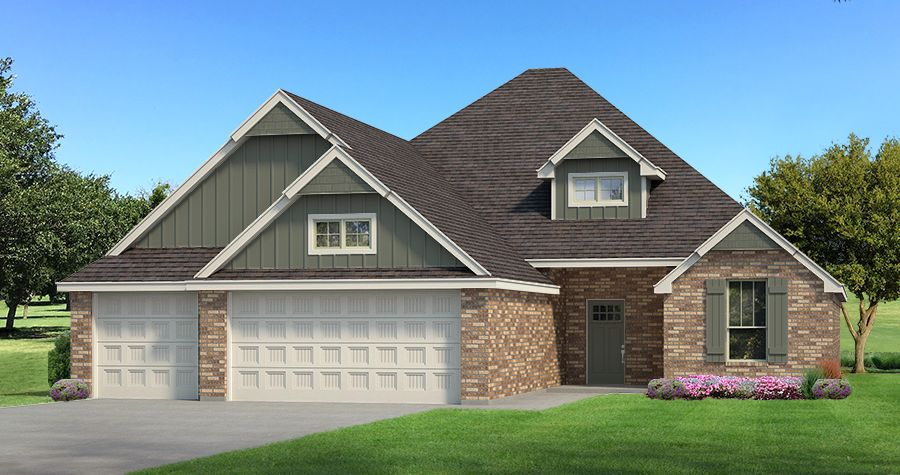 Exterior featured in the Hummingbird Bonus Room 2 By Homes By Taber in Oklahoma City, OK