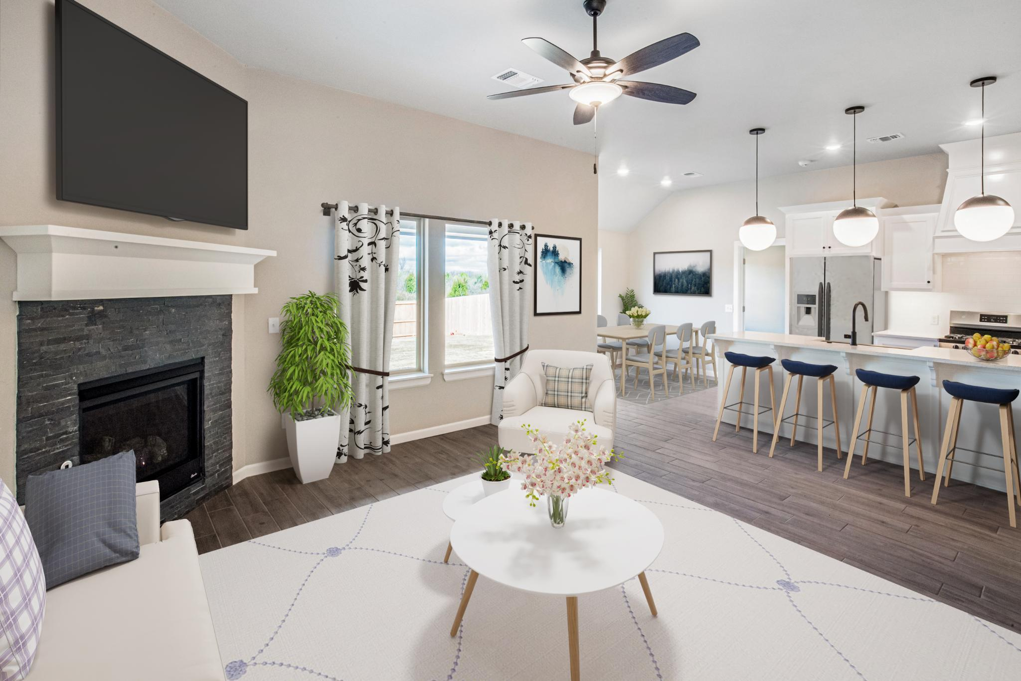 Living Area featured in the Brinklee By Homes By Taber in Oklahoma City, OK