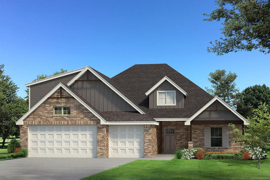 Exterior featured in the Blue Spruce Bonus Room 1 By Homes By Taber in Oklahoma City, OK