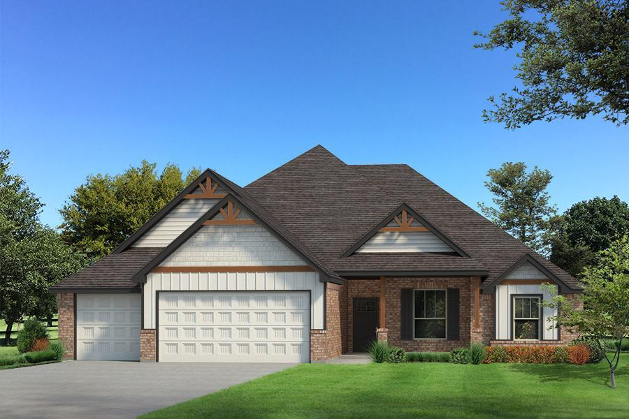 Exterior featured in the Cornerstone Bonus Room 2 By Homes By Taber in Oklahoma City, OK