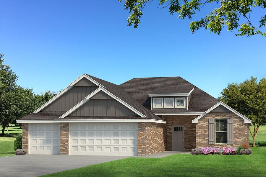 Exterior featured in the Hummingbird By Homes By Taber in Oklahoma City, OK