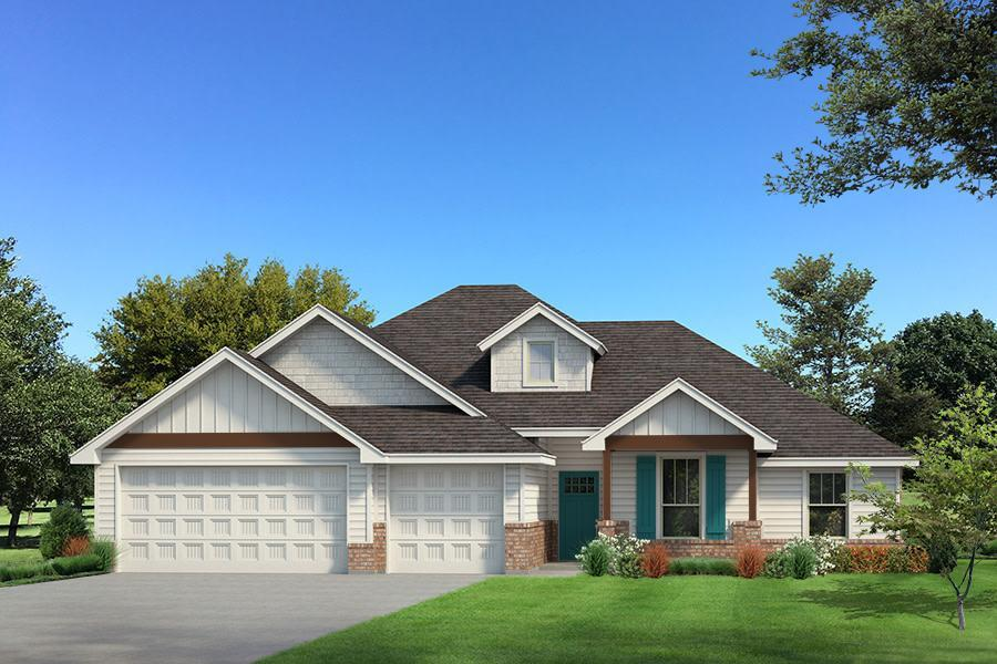 Exterior featured in the Hazel Plus By Homes By Taber in Oklahoma City, OK