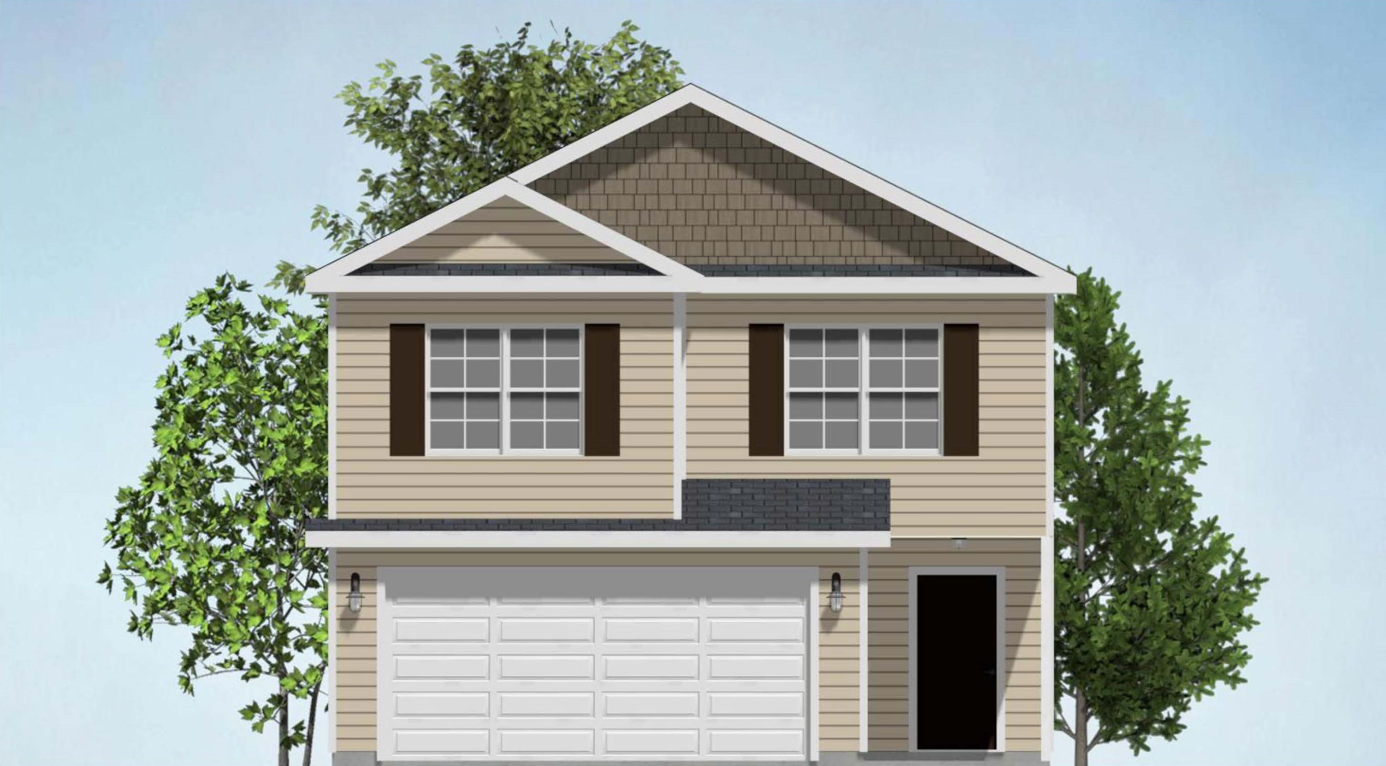 Exterior featured in The Wexford By Horizon Home Builders Savannah in Savannah, GA