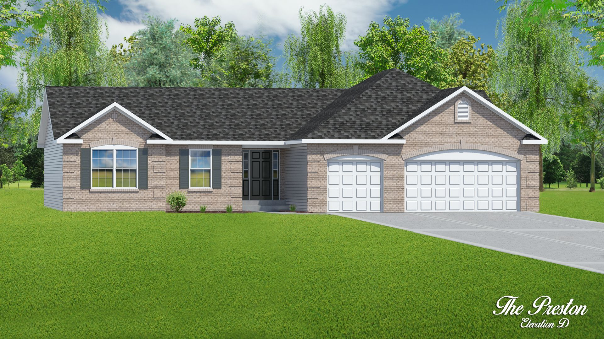 Exterior featured in The Preston - 3 Car Garage By T.R. Hughes Homes in St. Louis, MO