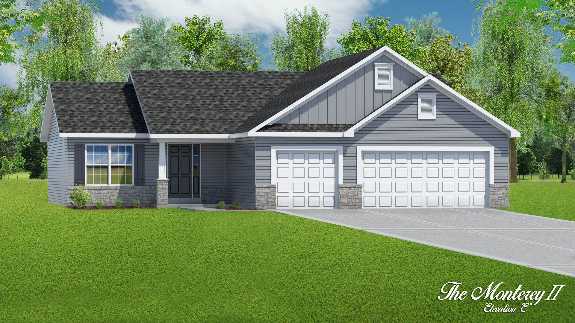 Exterior featured in The Monterey II - 3 Car Garage By T.R. Hughes Homes in St. Louis, MO