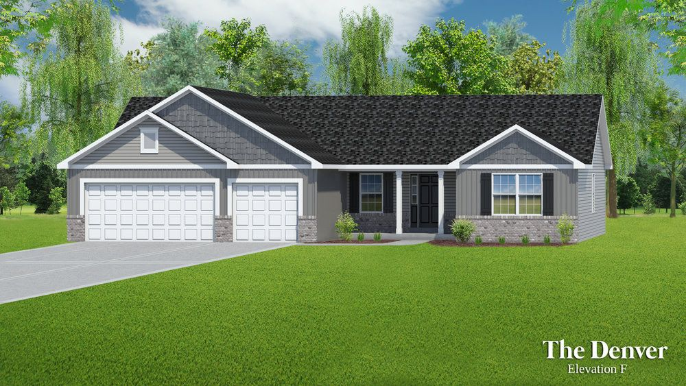 Exterior featured in The Denver - 3 Car Garage By T.R. Hughes Homes in St. Louis, MO