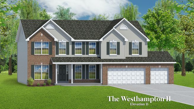 The Westhampton II - 3 Car Garage