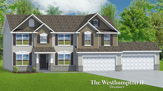 The Westhampton II - 4 Car Garage