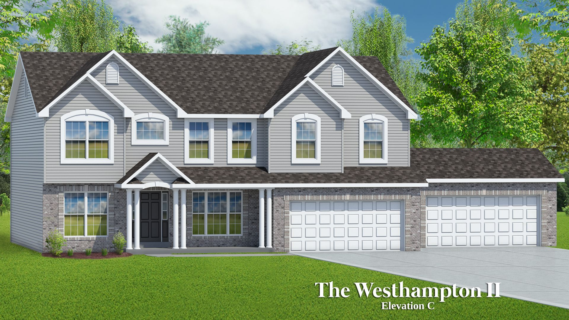 Exterior featured in The Westhampton II - 4 Car Garage By T.R. Hughes Homes in St. Louis, MO