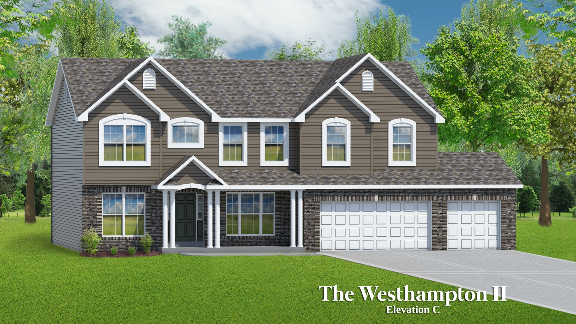 Exterior featured in The Westhampton II - 3 Car Garage By T.R. Hughes Homes in St. Louis, MO
