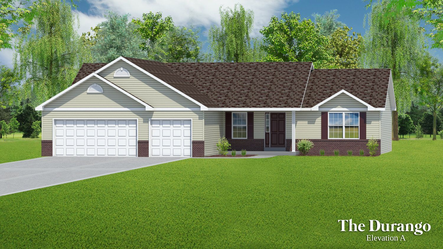 Exterior featured in The Durango - 3 Car Garage By T.R. Hughes Homes in St. Louis, MO