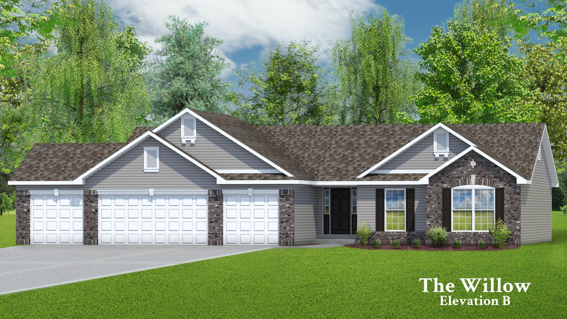 Exterior featured in The Willow - 4 Car Garage By T.R. Hughes Homes in St. Louis, MO