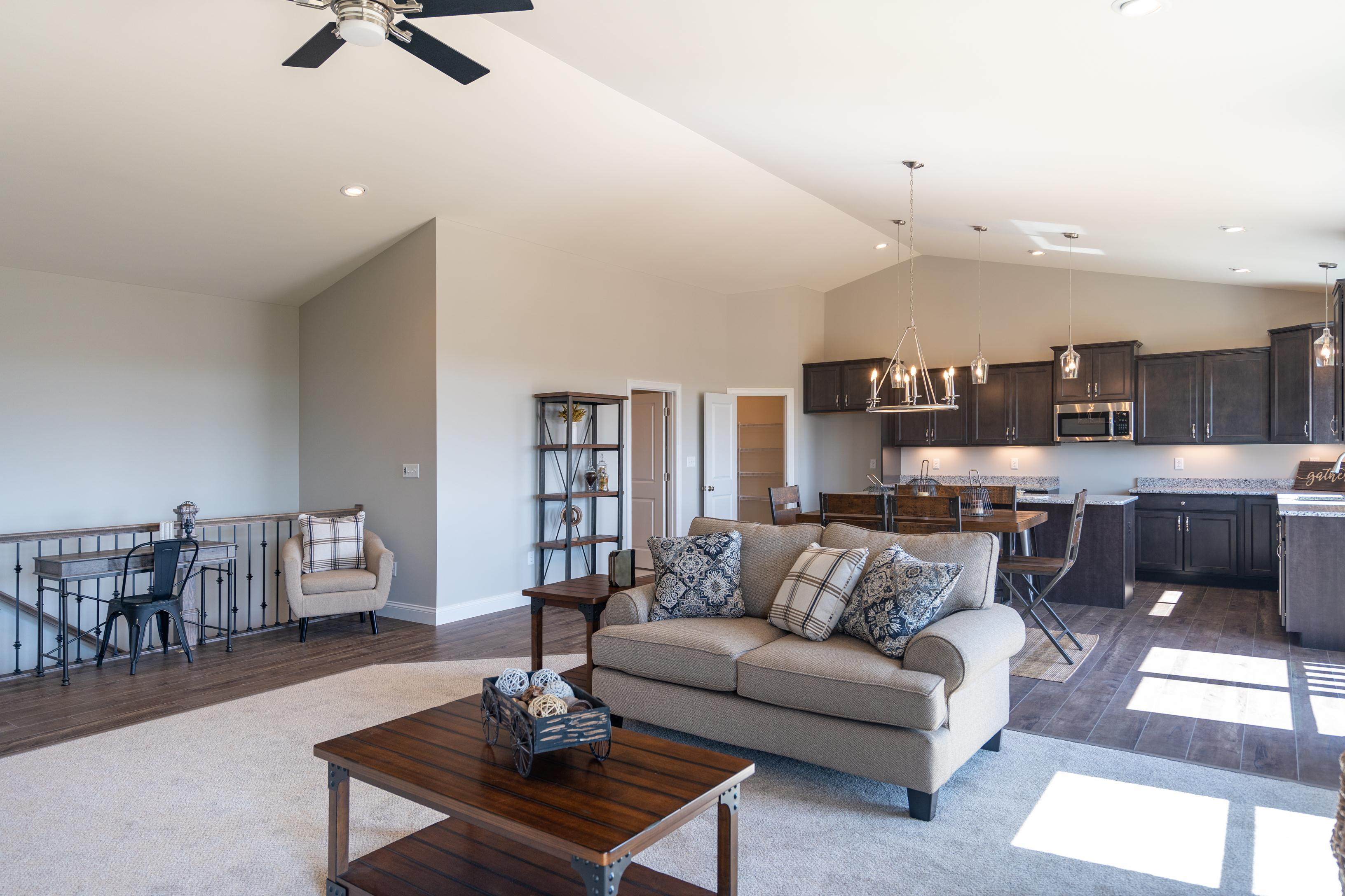Living Area featured in The Willow - 4 Car Garage By T.R. Hughes Homes in St. Louis, MO