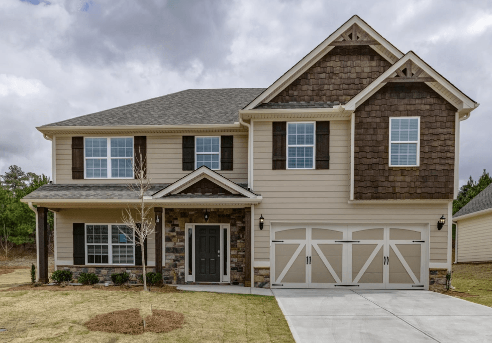 Exterior featured in the Cannaberra By Hughston Homes in Auburn-Opelika, AL