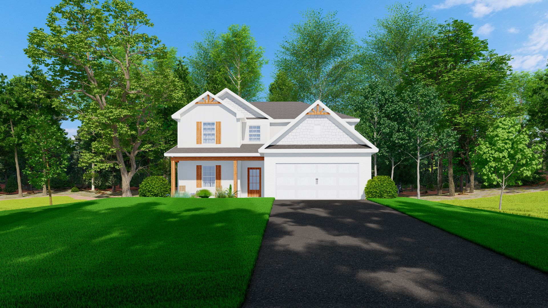 Exterior featured in the Aspen By Hughston Homes in Macon, GA