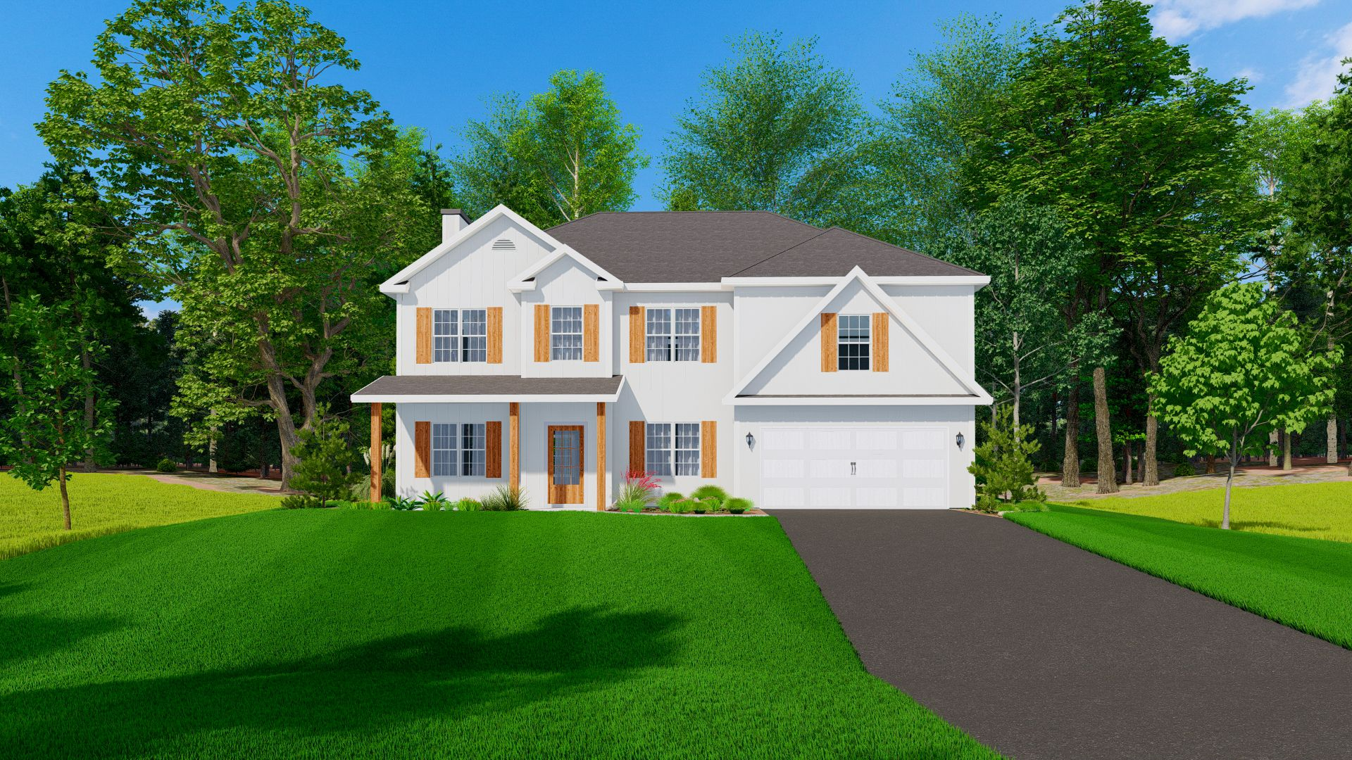 Exterior featured in the Harrison By Hughston Homes in Macon, GA