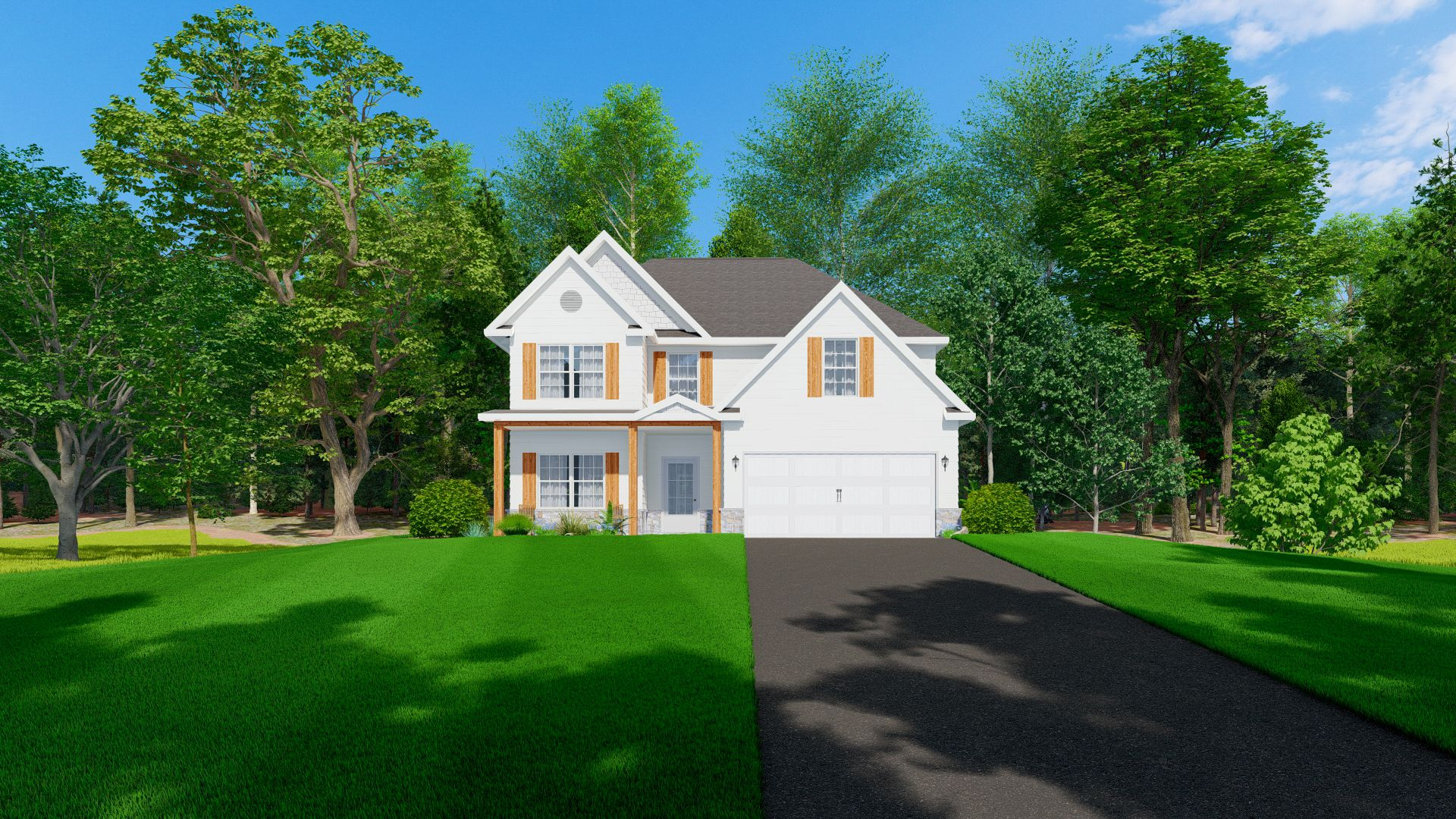 Exterior featured in the Hawthorn By Hughston Homes in Macon, GA