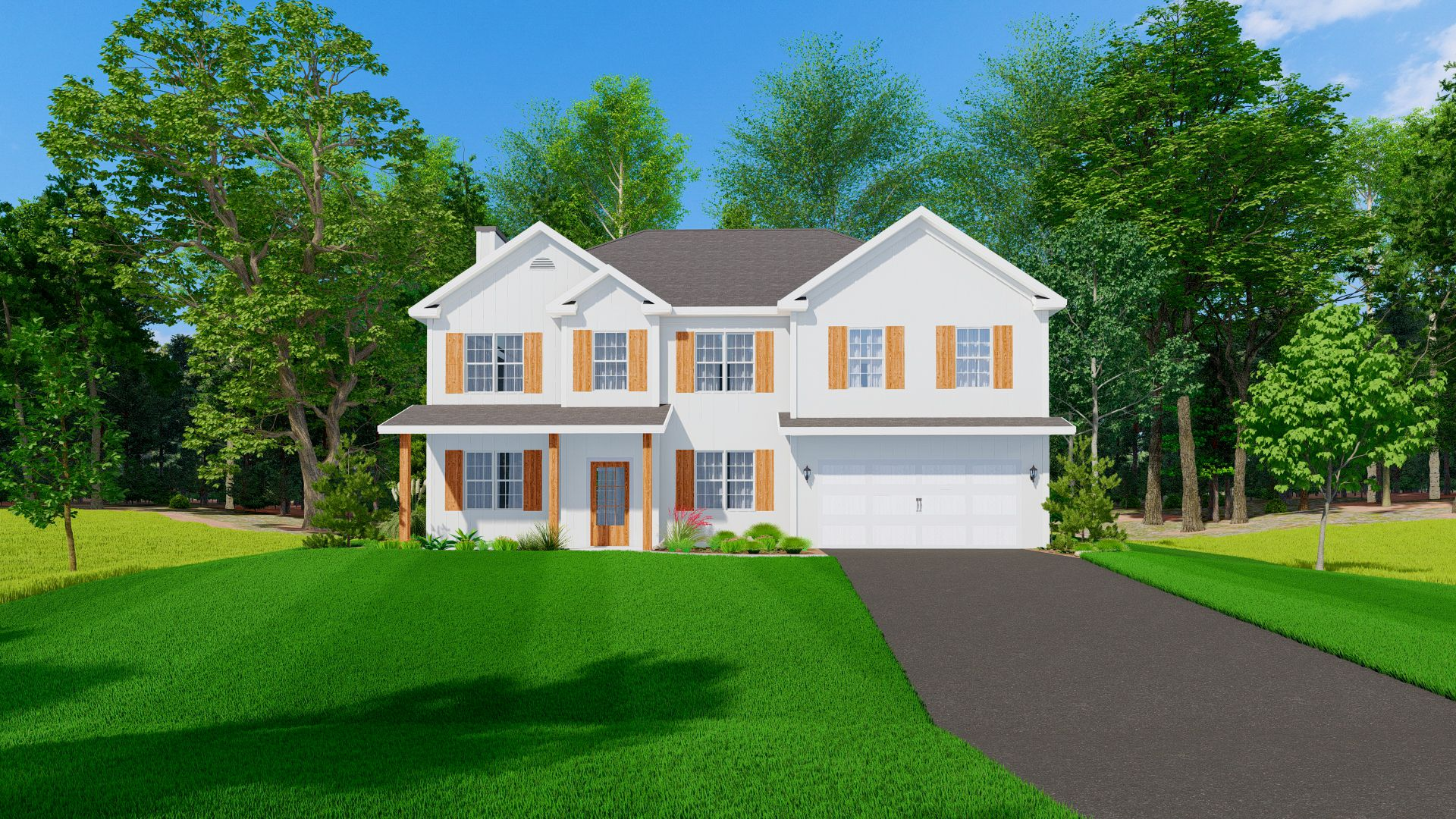 Exterior featured in the Harrison By Hughston Homes in Columbus, GA