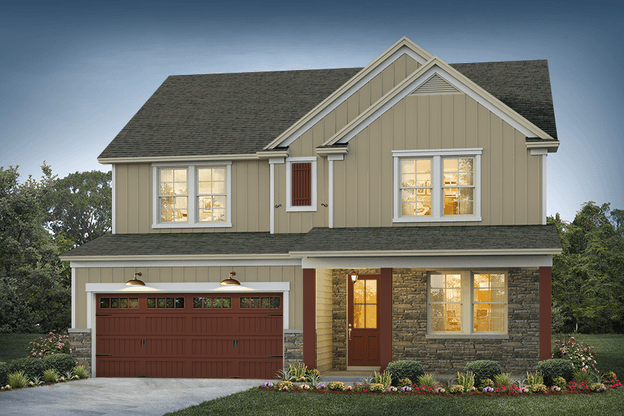 Belmont Elevation 1:Driftwood Color Package