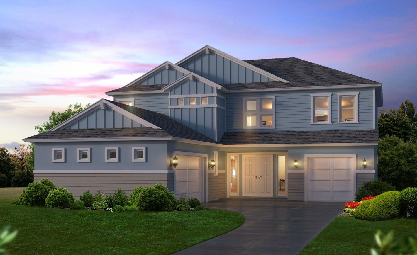 Exterior featured in the Victoria By ICI Homes in Gainesville, FL