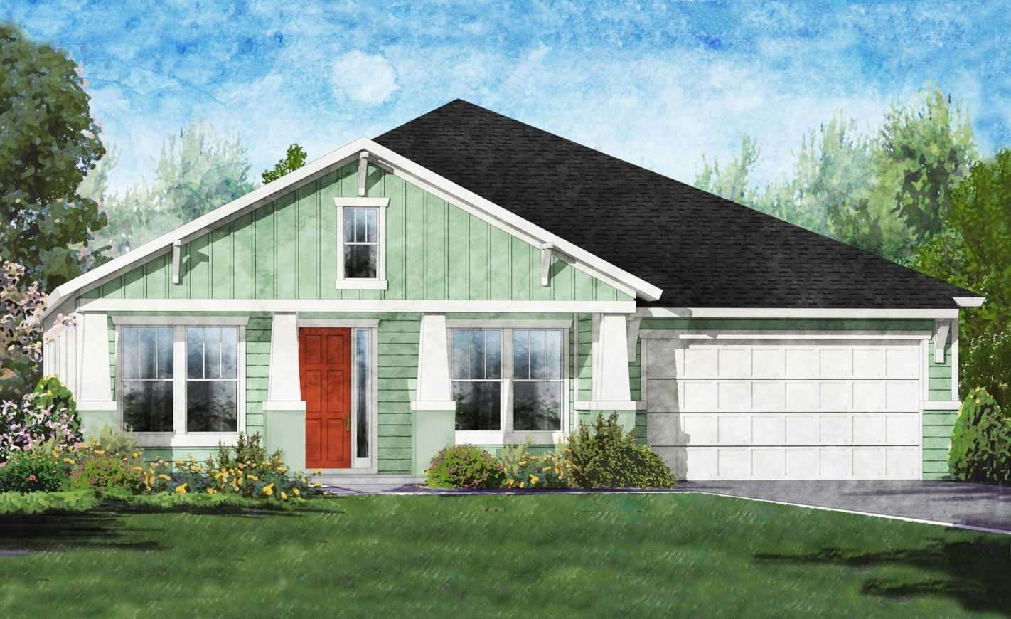 Exterior featured in the Belaire By ICI Homes in Gainesville, FL