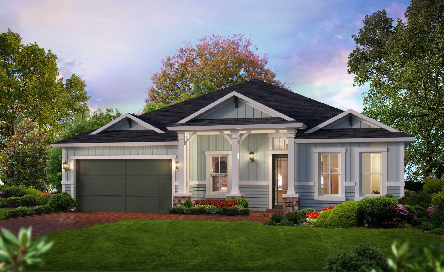 Exterior featured in the Costa Mesa By ICI Homes in Gainesville, FL