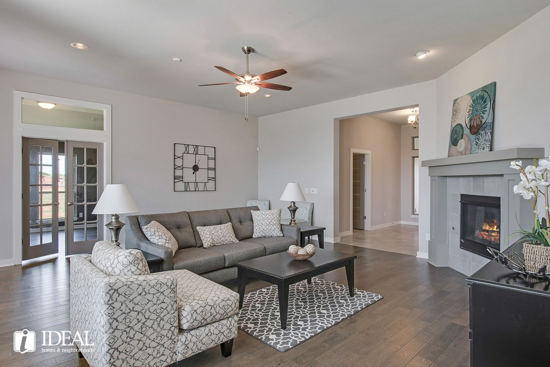 Living Area featured in the Morrison By Ideal Homes in Oklahoma City, OK