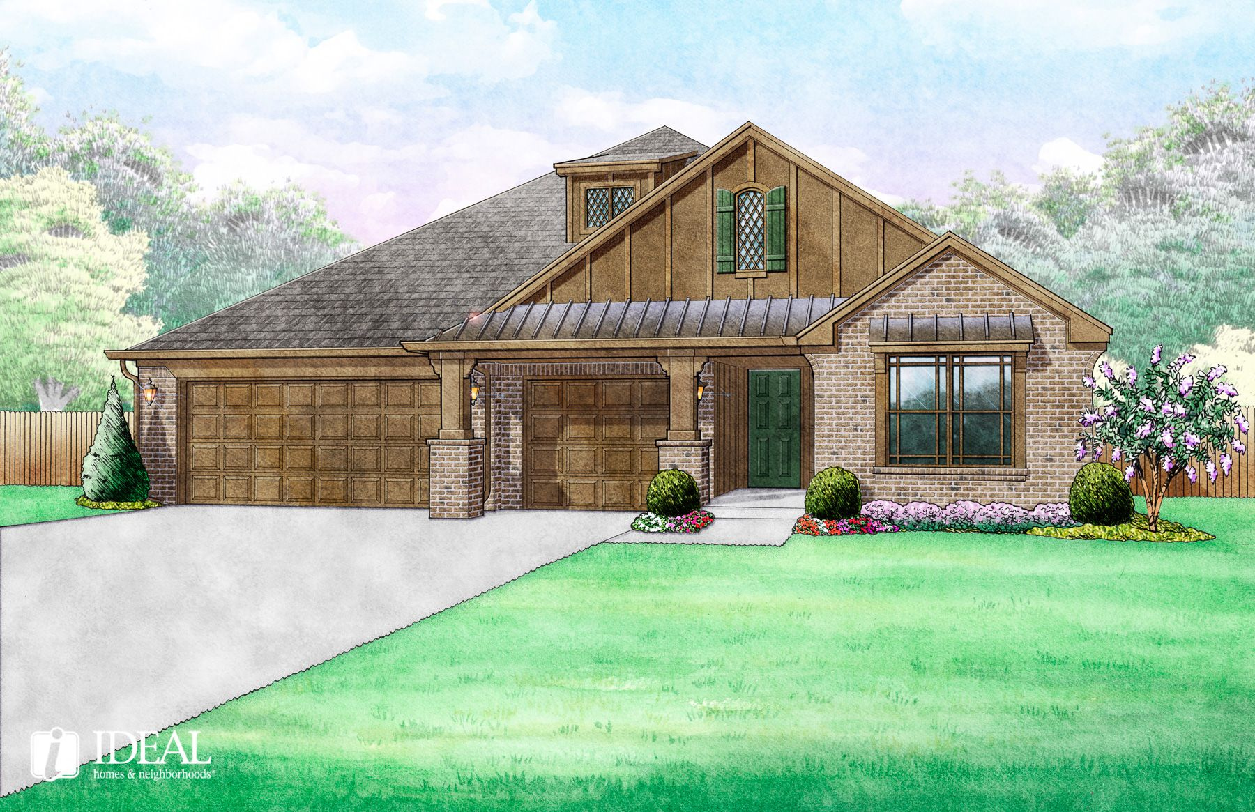 Exterior featured in the 809 Scully Road By Ideal Homes in Oklahoma City, OK