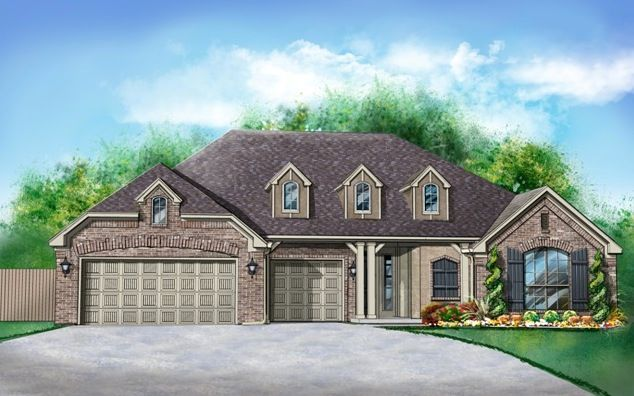 Exterior featured in the Henley By Ideal Homes in Oklahoma City, OK