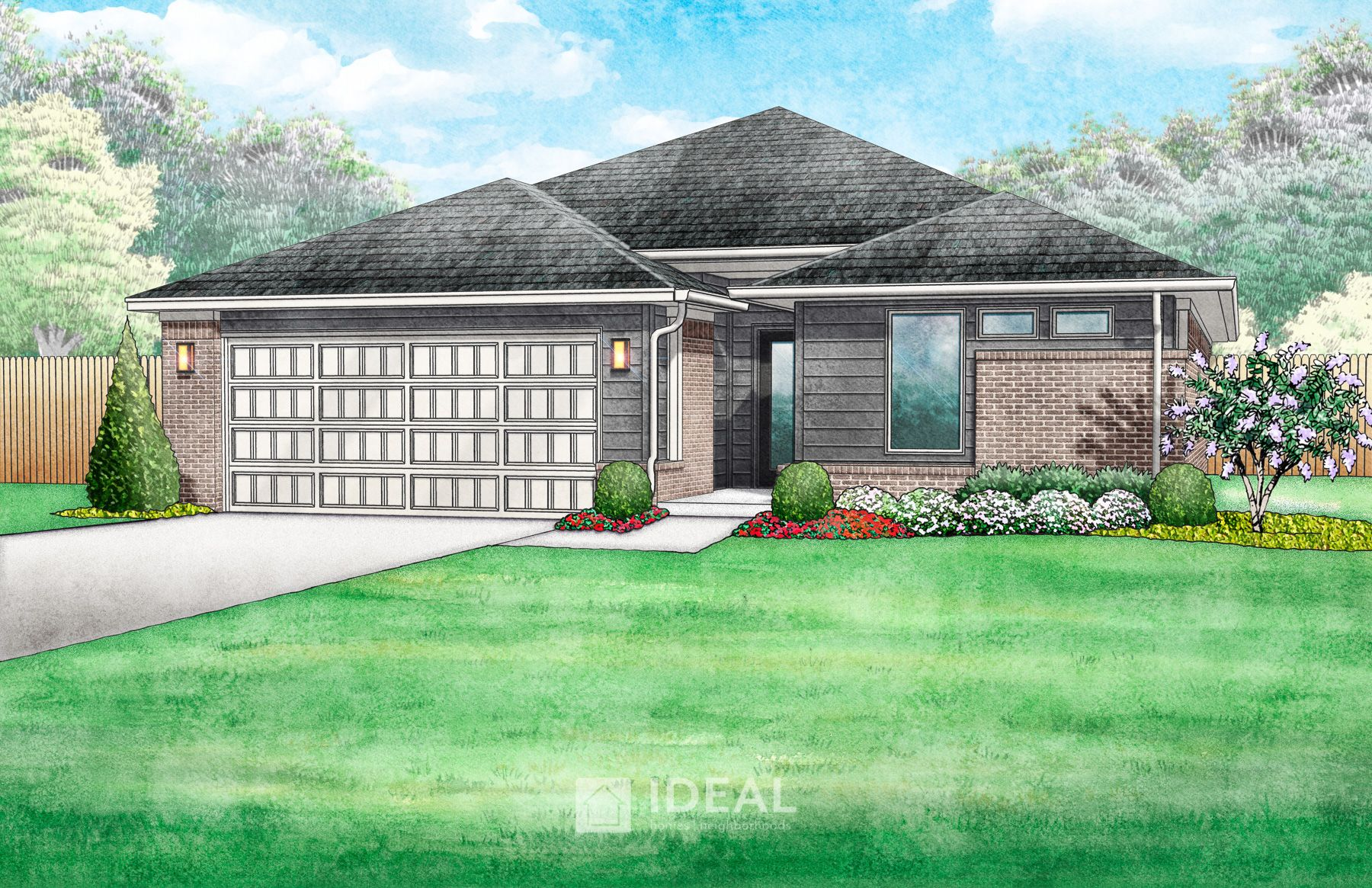 Exterior featured in the Dawson By Ideal Homes in Oklahoma City, OK