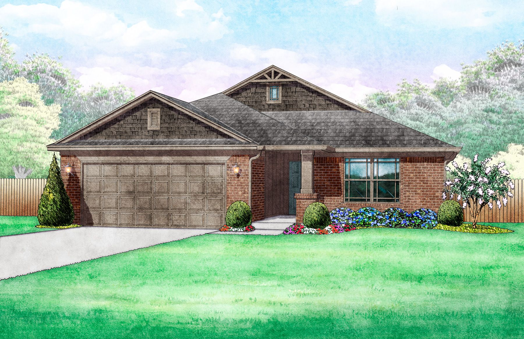 Exterior featured in the Edison By Ideal Homes in Oklahoma City, OK