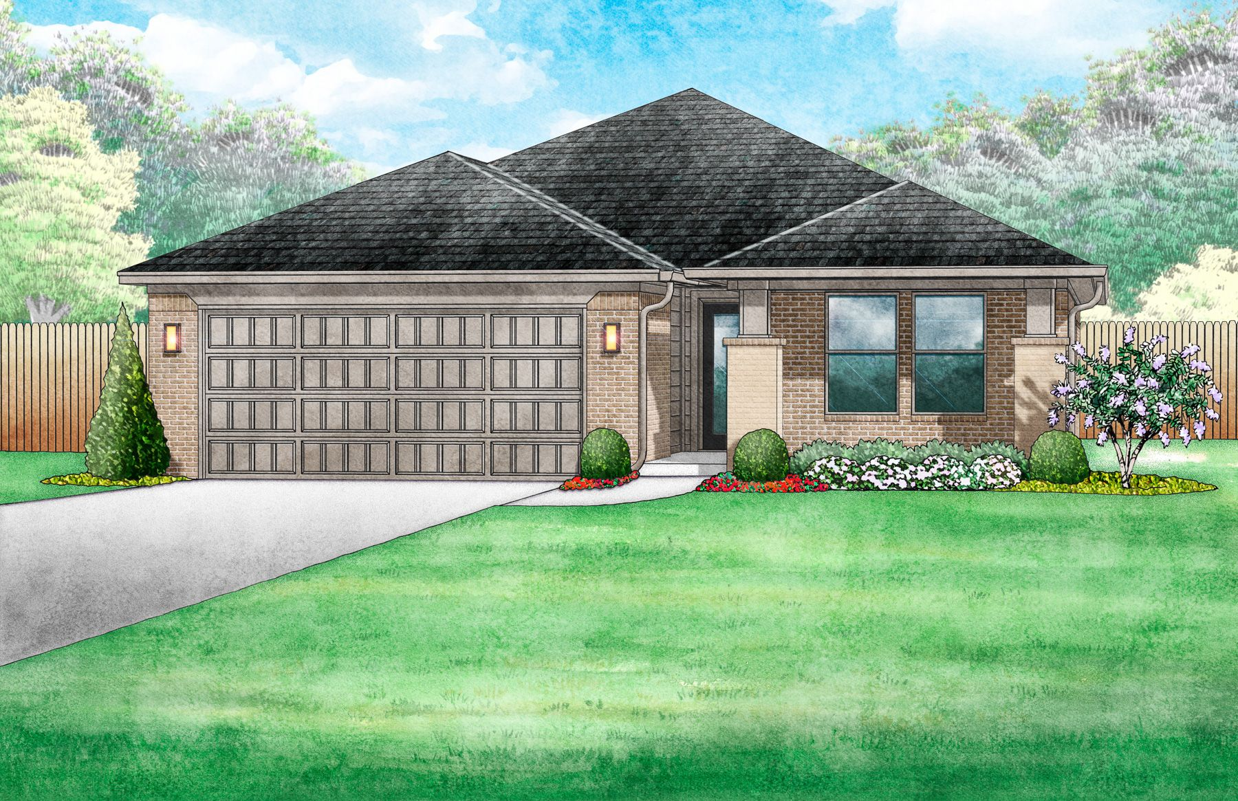 Exterior featured in the Chadwick By Ideal Homes in Oklahoma City, OK