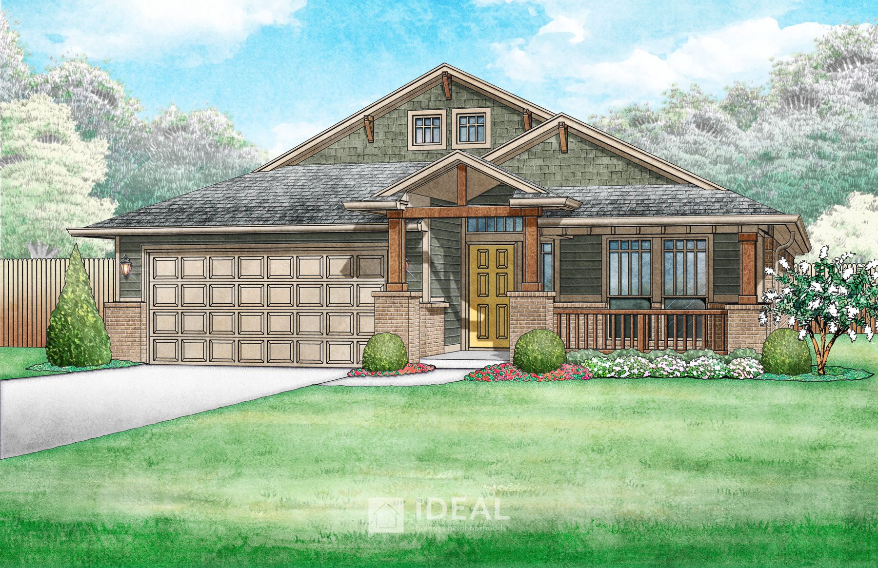 Exterior featured in the Kensington By Ideal Homes in Oklahoma City, OK