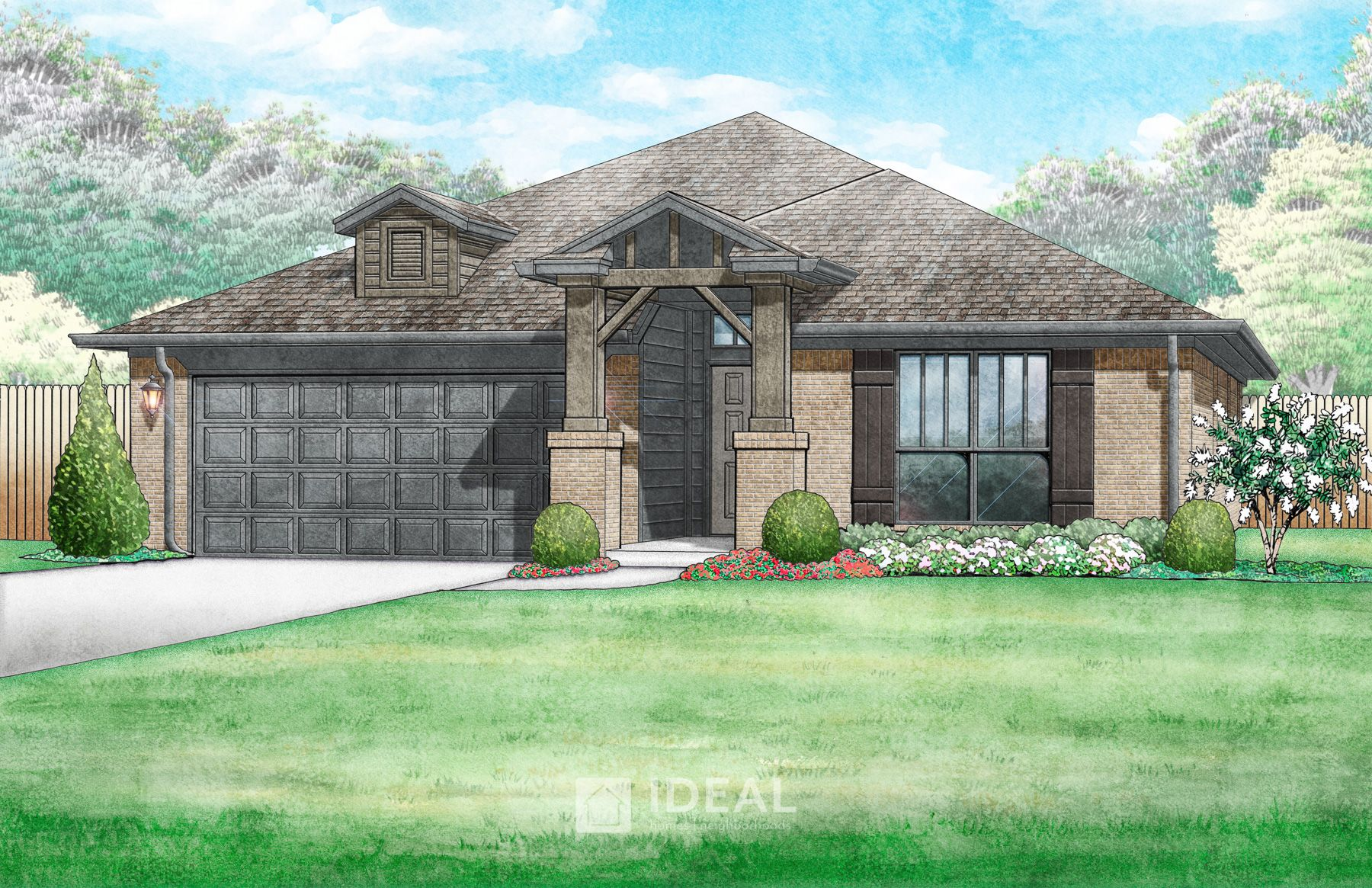 Exterior featured in the Jefferson By Ideal Homes in Oklahoma City, OK