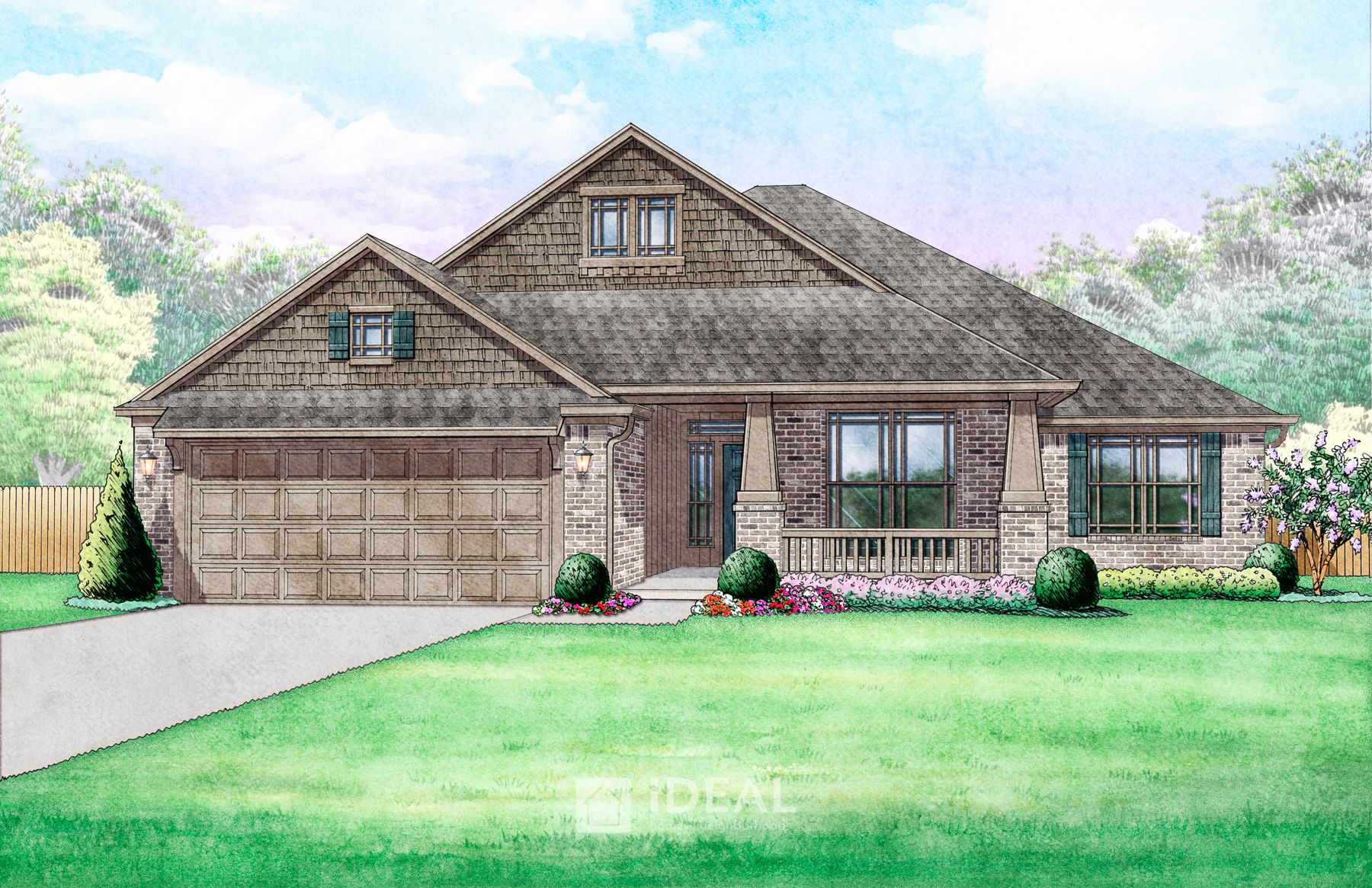 Exterior featured in the Kendall By Ideal Homes in Oklahoma City, OK