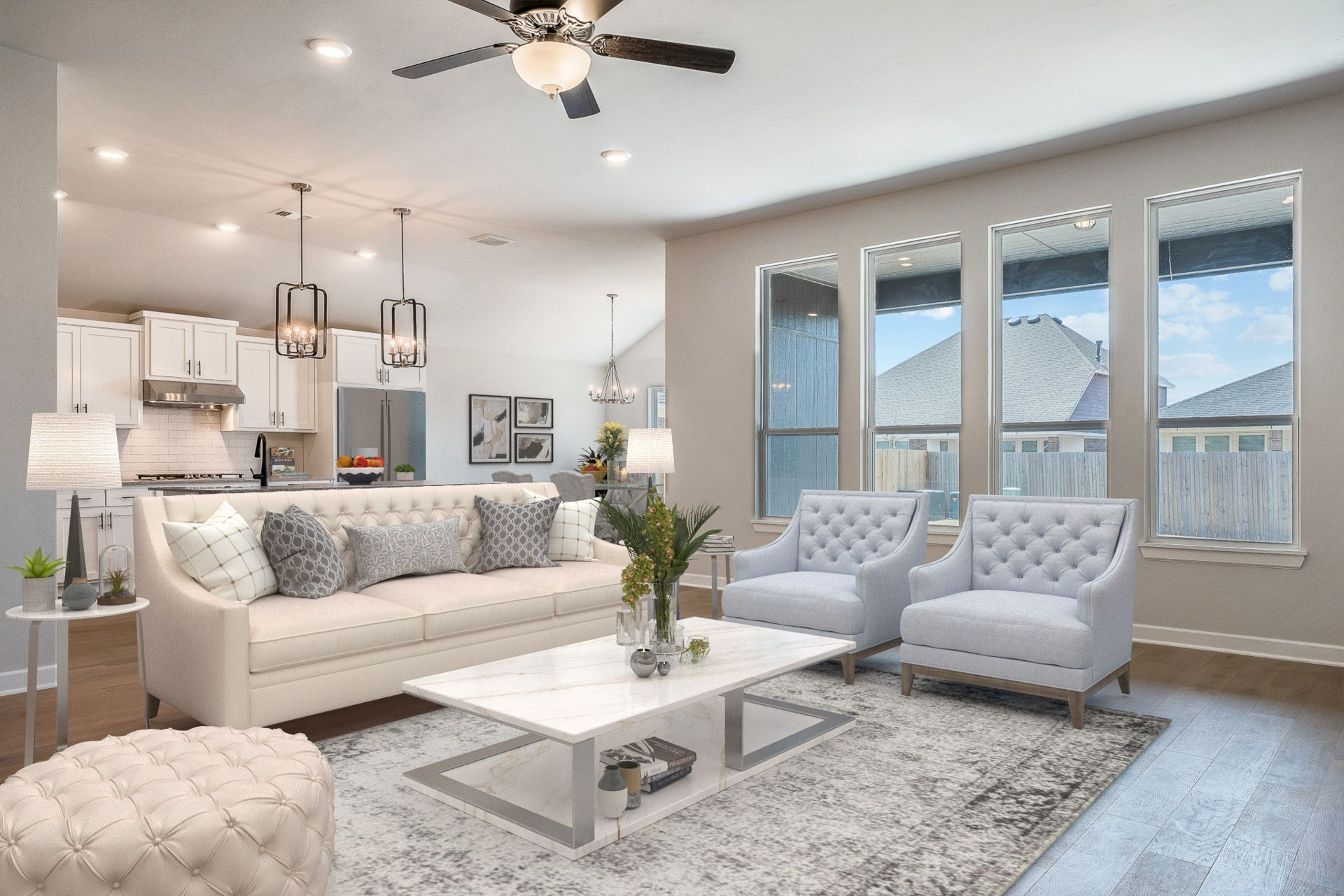 Living Area featured in the Montgomery By Ideal Homes in Oklahoma City, OK