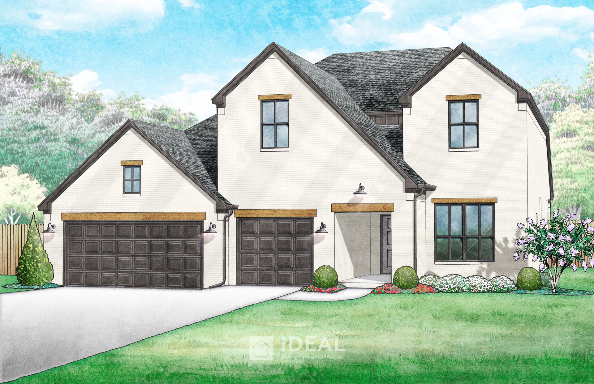 Exterior featured in the Nottingham By Ideal Homes in Oklahoma City, OK