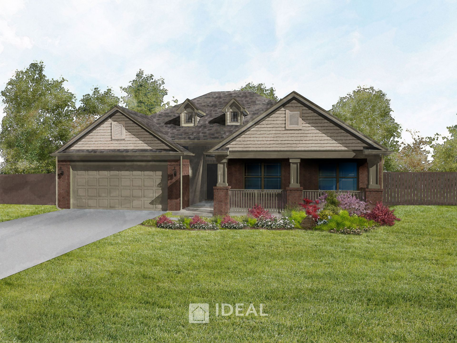 Exterior featured in the Langley By Ideal Homes in Oklahoma City, OK