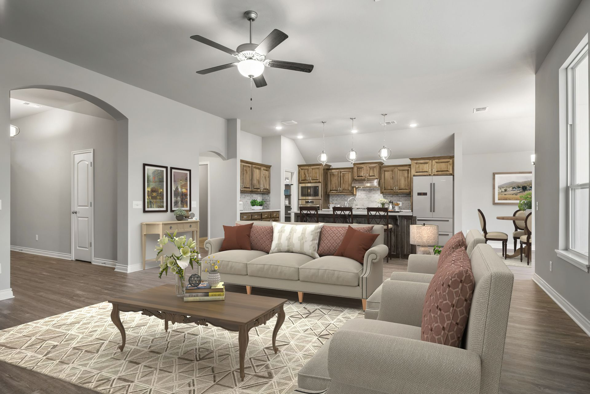 Living Area featured in the Langley 3-Car By Ideal Homes in Oklahoma City, OK