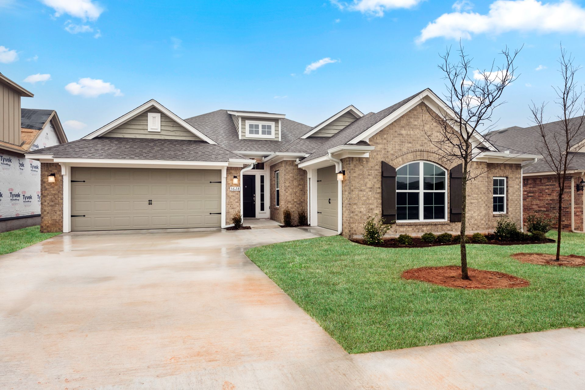 Exterior featured in the Langley 3-Car By Ideal Homes in Oklahoma City, OK
