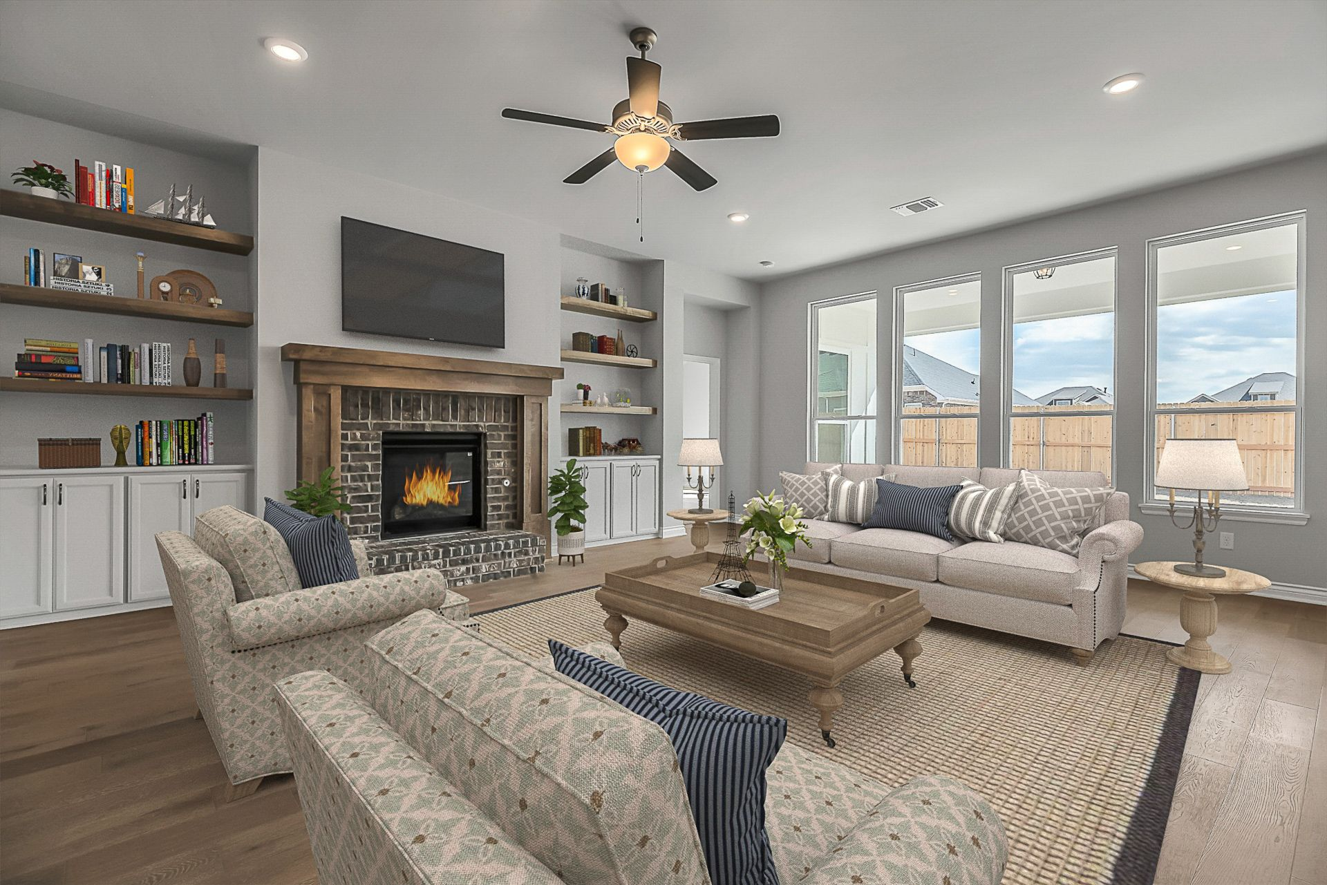 Living Area featured in the Pendleton By Ideal Homes in Oklahoma City, OK