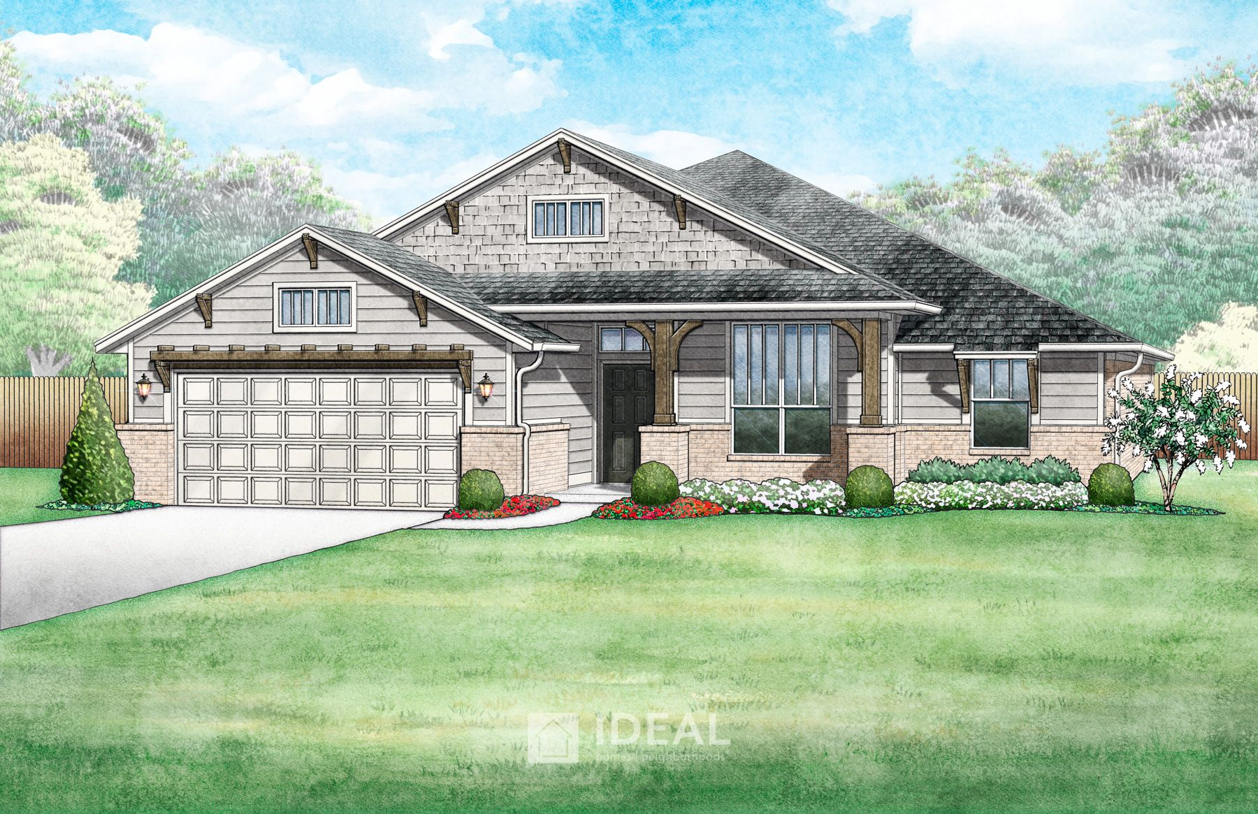 Exterior featured in the Pendleton By Ideal Homes in Oklahoma City, OK